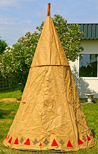 Indianerzelt-Natur-Zelt-Kinderspielzelt-Tipi-Spielzelt