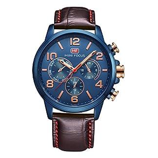 Autulet-Herren-Chronograph-Analoges-Quarzwerk-Watches-with-Leder-Uhrenarmband