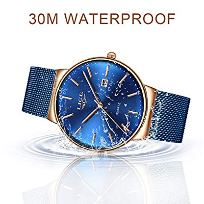Uhren-fr-Herren-LIGE-Luxus-Marke-Multifunktions-Chronograph-Sport-Analog-Quarz-Armbanduhr-Herren-Edelstahl-Wasserdicht-Datum-Business-Casual-Armbanduhr-Schwarz-Rotgold-Zifferblatt