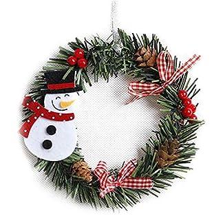 Bweele-WeihnachtskranzAdventskranz-Weihnachts-Trkranz-Weihnachtsdeko-Kranz-Weihnachtsgirlande-Trkranz-Weihnachten-Dekoration-fr-Deko-Weihnachten-Advent