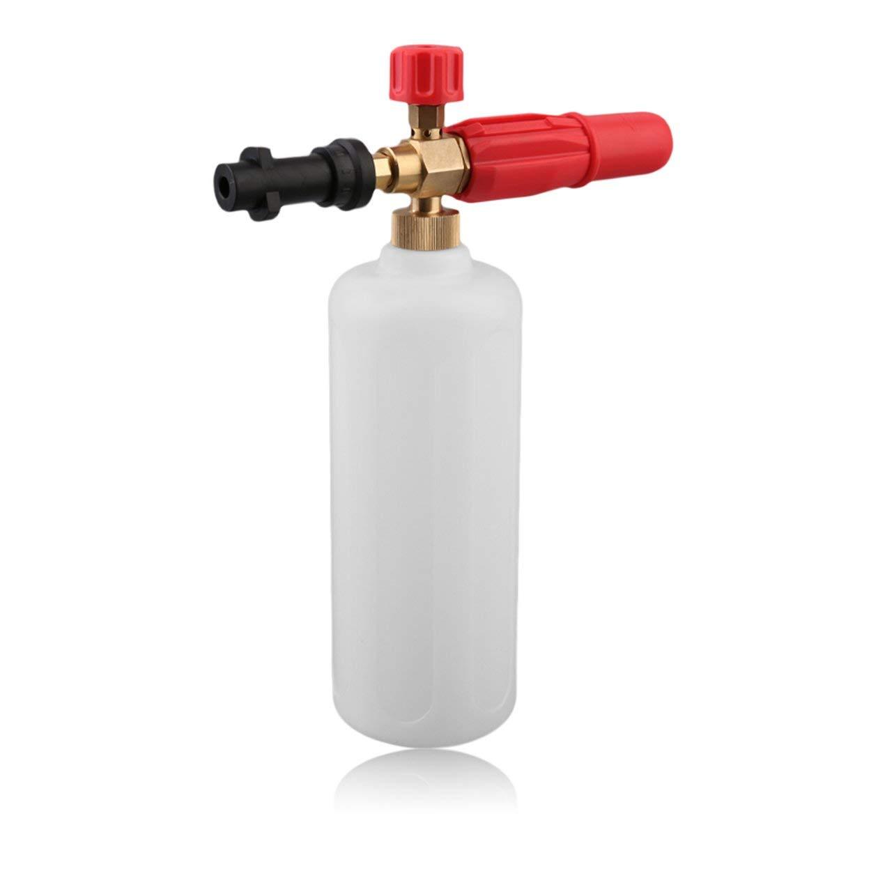 Hochdruck-HD-Messing-Schaumpistole-mit-1L-Messflasche-Karcher-K-Serie-Fahrzeug-Auto-Waschmaschine-Kompatibel-Schnee-Foam-Lance