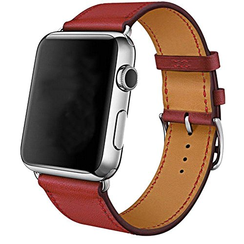 g nstig apple uhrenserie armbanduhr band manschette leder iwatch riemen 38 42mm bei uhren. Black Bedroom Furniture Sets. Home Design Ideas
