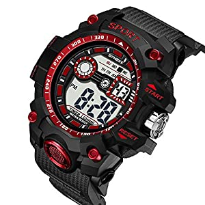 Zolimx-Elektronische-Uhr-fr-Herren-Multi-Funktions-Wasserdichte-Uhren-LED-Digital-Double-Armband