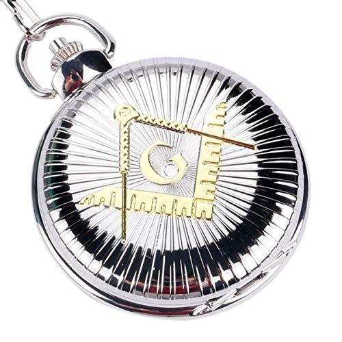 xigeya-New-Fashion-die-gelb-Freimaurer-quadratisch-Muster-Silber-gro-Zifferblatt-Taschenuhr-Kette