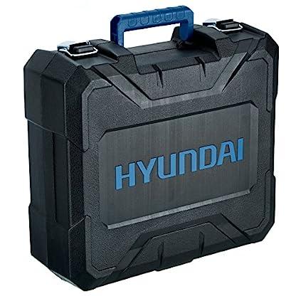 HYUNDAI-Akku-Schlagbohrschrauber-CHD1801LI-Akku-Schlagbohrmaschine-18V-Li-Ionen-mit-Schnellspannfutter-2-Gang-Getriebe-LED-Leuchte-Softgriff-Grtelclip