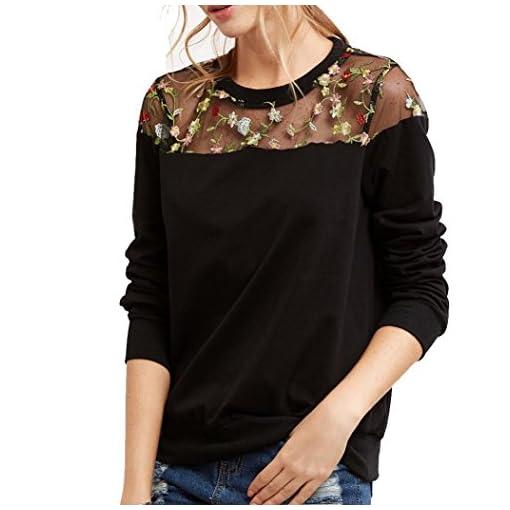 Damen-Langarmshirt-iHee-2017-Herbst-Frauen-O-Hals-Spitze-Langes-Hlsen-mit-Kapi-Kapuzenpulli-Pullover-Oberseiten-T-Shirt