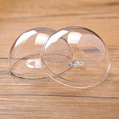 Sharplace-10-Stcke-Klar-Kunststoff-Ball-Diy-Weihnachtskugeln-Weihnachtsbaumschmuck-Bastelkugel-Dekoration