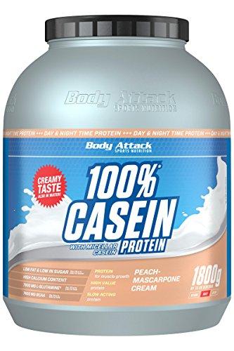 Body Attack 100% Casein Protein, Peach Mascarpone, 1800 g