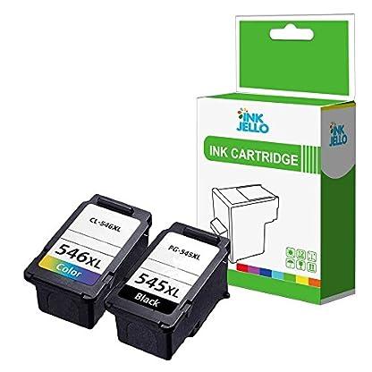 Inkjello-wiederaufbereitete-Tintenpatrone-Ersatz-fr-Canon-Pixma-IP2850-mg2400-MG2450-MG2455-MG2550-mg2550s-MG2555-mg2555s-mg2900-MG2950-mg2950s-545XLCL546-X-L-schwarzdreifarbig-2er-Pack