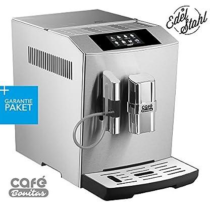 50-sparen-Garantiepaket-Kaffeevollautomat-ONE-TOUCH-Edelstahlgehuse-Silber-gebrstet-Caf-Bonitas-Tech1-Touchscreen-Dualboiler-19-Bar-Kaffeeautomat-Kaffeemaschine-Kaffee-Espresso-Latte
