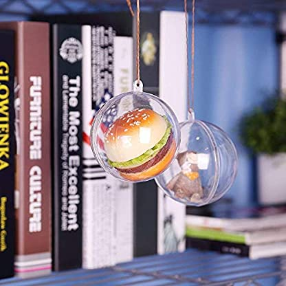 Zogin-20-stck-Acrylkugeln-Weihnachtskugeln-Transparente-weihnachtskugeln-als-Saisonal-Deko-Hochzeitsdeko-hngender-Kugel-weihnachtskugeln-durchsichtig-deko-Kugeln-christbaumkugeln-50-mm