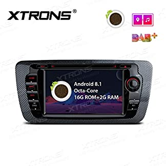 XTRONS-7-Auto-Touchscreen-Autoradio-Auto-DVD-Player-mit-Android-81-Octa-Core-Multimedia-Player-unterstzt-4K-Video-WiFi-4G-Bluetooth50-2GB-RAM-16GB-ROM-DAB-OBD2-FR-Seat-Ibiza