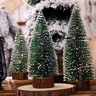 Knstlicher-Weihnachtsbaum-Weihnachtskiefern-LED-Licht-Baum-auf-runden-Holzfu-Feriengeschenk-Tischplatten-Dekorationen