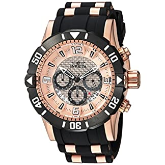 INVICTA-PRO-Diver-Herren-Armbanduhr-Armband-Kunststoff-ROSAROT-Quarz-23708