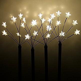 Wohaga-4-LED-Leuchtstbe-mit-Erdspie-H66cm-24-LEDs-Gartenstecker-Gartenstbe-fr-Auen-Sternenstbe-Auendekoration-Lichterdeko-Leuchtstbe-Gartendekoration-Auenbeleuchtung