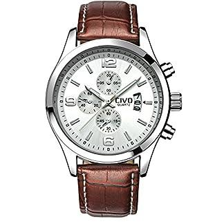 CIVO-Herren-Analog-Braun-Lederband-Wei-Japan-Quarzwerk-Uhr-Mnnlich-Modisch-Design-Datum-Kalender-Uhren-Business-Casual-Elegant-Luxus-Wasserdichte-Mnner-Armbanduhr