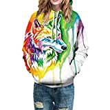 Damen-Kapuzenpullover-Mode-Bunt-Frauen-Herbst-Winter-Sweatshirt-3D-Multicolor-Wolf-Printing-Kapuzenpullover-Pulli-Langarm-Sport