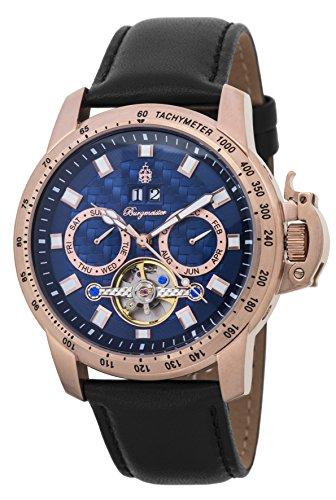 Burgmeister-Armbanduhr-fr-Herren-mit-Analog-Anzeige-Automatik-Uhr-und-Lederarmband-Wasserdichte-Herrenuhr-mit-zeitlosem-schickem-Design-klassische-Uhr-fr-Mnner-BM231-332-Fremont