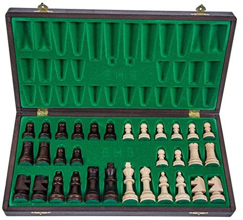 SQUARE-GAME-Pro-Schach-Nr-4-WENGE-Schachspiel-aus-Holz-Schachbrett-Staunton-4