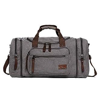 Fresion-Groe-Segeltuch-Reisetasche-Tote-Handtasche-Mnner-Weekender-Duffle-Bag-Daypacks-fr-Frauen-Mnner-mit-44L