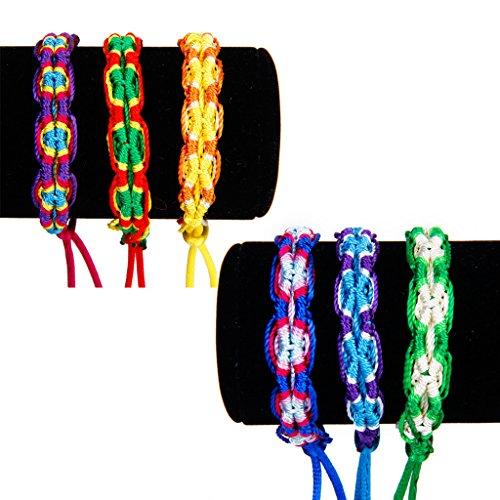 6 Bunte handgemachte Geflochtene Thema Freundschaftsbänder Knöchel Armband Armband Geschenk