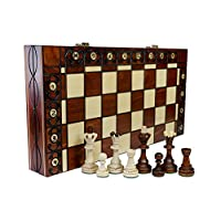 SENATOR-groe-40cm16-In-Handarbeit-klassische-Holz-Schachspiel
