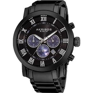 Akribos-XXIV-Herren-der-grandiosen-Analog-Chronograph-Armbanduhr-mit-Edelstahl-Armband