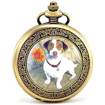 Unendlich-U-Fashion-Ser-Hund-Retro-Handaufzug-Mechanische-Taschenuhr-Hohle-Skelett-Kettenuhr-Pullover-Halskette-Bronze