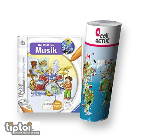 Ravensburger-tiptoi-Buch-Wieso-Weshalb-Warum-Die-Welt-der-Musik-Kinder-Weltkarte-Lnder-Tiere-Kontinente