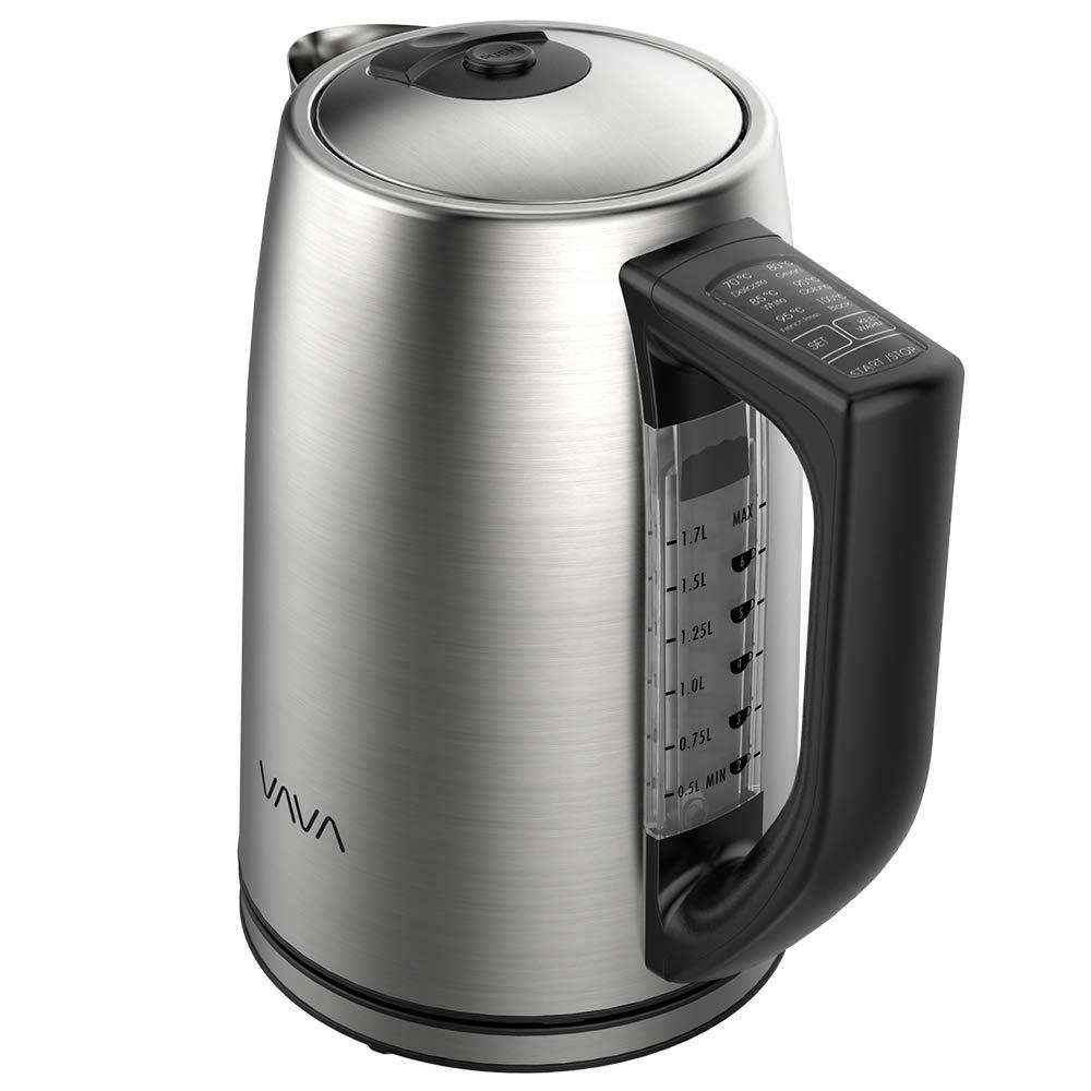 Elektrischer-Wasserkocher-mit-Temperatureinstellung-VAVA-Wasserkocher-Edelstahl-17L-fr-alle-Getrnke-BPA-Frei-Trockengehschutz-Warmhaltefunktion