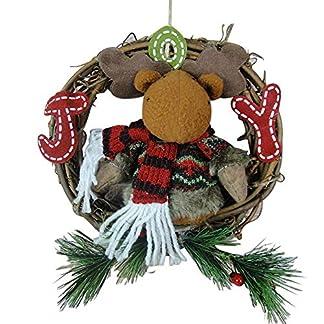 Eillybird-21-21cm-Rattan-Stoff-Weihnachtsdekorationen-Sankt-Schneemann-Elch-Weihnachten-Nicht-weit-von-der-Rattankranz-Tr-hngende-Wandplan-Weihnachtselche