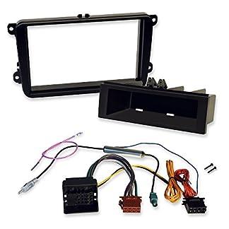 2-DIN-und-1-DIN-Einbauset-fr-VW-zum-Einbau-von-Autoradios-und-Navis-mit-Doppel-Din-Radioblende-und-Radioadapter-Quadlock-auf-ISO-Fr-viele-Volkswagen-Modelle-geeignet