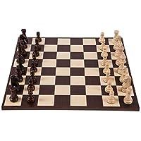 Pro-Schach-Set-Nr-6-SQUARE-AMERIKA-Schachbrett-Schachfiguren-Staunton-6-Schachspiel-aus-Holz