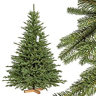 FairyTrees-Weihnachtsbaum-knstlich-BAYERISCHE-Tanne-Premium-Material-Mix-aus-Spritzguss-PVC-inkl-Holzstnder-FT23
