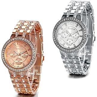 JewelryWe-Damen-Armbanduhr-Luxus-Elegant-Business-Casual-Analog-Quarz-Uhr-mit-Edelstahl-Strass-Armband-Rose-Gold-Silber