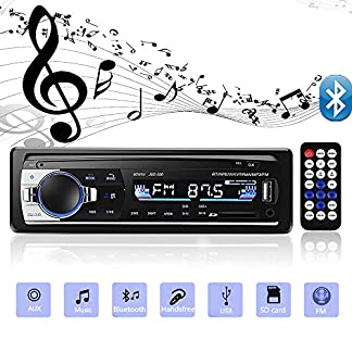 Andven-Autoradio-mit-Bluetooth-Freisprecheinrichtung-Digital-Media-Receiver-4X60W-Auto-Radio-1-Din-USB-SD-AUX-MP3-Player-Receiver-mit-Fernbedienung