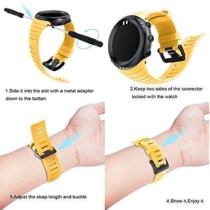 TOPsic-Suunto-Core-Watch-Armband-TPU-Sportarmband-Uhr-Band-Strap-Erstatzband-Uhrenarmband-fr-Suunto-Core-Samrtwatch