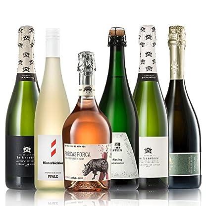 GEILE-WEINE-Weinpaket-PRICKELNDES-6-x-075l-Probierpaket-mit-Sekt-Crmant-Schaum-und-Perlweinen-von-Winzern-aus-Deutschland-Frankreich-und-Italien