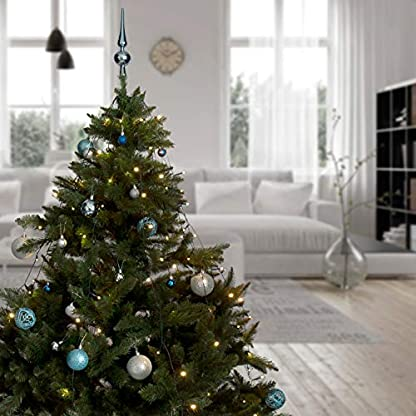 Snowera-LED-Tannenbaumlichterketteberwurf-LichterketteWeihnachtslichterkette-fr-innen-mit-Timer-Einfach-und-schnell-dekorieren-Lichtfarbe-warm-weiverschiedene-Lngen