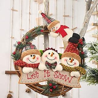 Ajboy-Weihnachtskranz-Dekoration-Schneemann-Alter-Mann-Hirsch-Kranz-Ornamente-fr-Wand-Tr-Dekoration