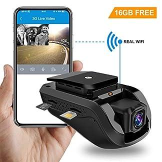 Dual-Dash-Cam-Toptellite-3G-WiFi-Auto-Kamera-1080P-Full-HD-Nachtsicht-Kamera-Vorne-Hinten-DVR-Dash-Auto-Kamera-mit-Loop-Aufnahme-GPS-Car-Camera-G-Sensor-Vibrationsalarm-Kostenlose-16GB-TF-Karte