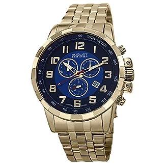 August-Steiner-Herren-Urbane-Analog-Display-Swiss-Quartz-Armbanduhr-mit-Edelstahl-Armband