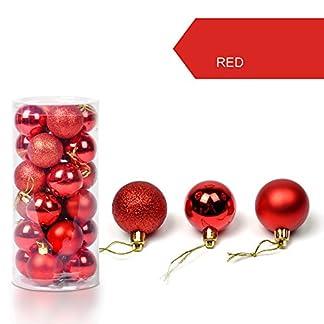 FeiliandaJJ-24PCS-3CM-Weihnachtskugel-Boxed-Einfarbig-Kugel-Weihnachten-Deko-Anhnger-Christbaumkugeln-fr-Weihnachtsbaum-Party-Home-Hochzeit