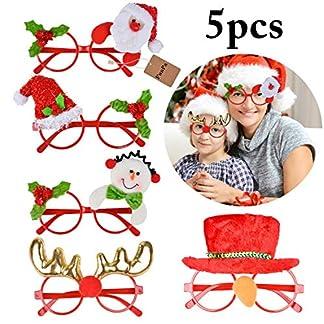 FunPa-Weihnachten-Brillengestell-5-Stcke-Weihnachten-Brillen-Weihnachtsmann-Schnee-Mann-Deer-Party-Brillengestell