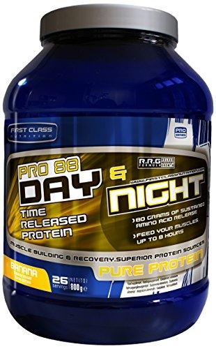 First-Class Nutrition PRO88 Day und Night Protein Banana – 8 Stunden mit langsamer Freisetzung, hochwertiges eiweiss, 1er Pack (1 x 2 kg)
