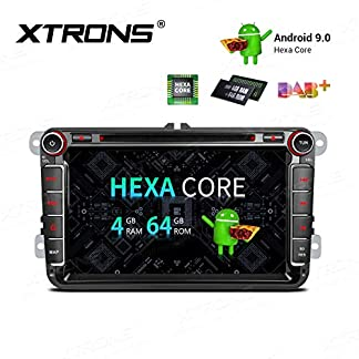 XTRONS-8-6-Core-Android-Autoradio-mit-Touchscreen-Auto-DVD-Player-Android-90-Hexa-Core-Autostereo-untersttzt-3G-4G-Bluetooth-4GB-RAM-64GB-ROM-DAB-OBD2-TPMS-FR-VW-VolkswagenSEATSkoda