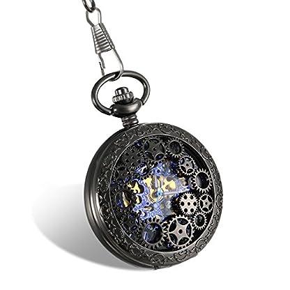 JewelryWe-Retro-Zahnrad-Ritzel-Hohe-Openwork-Handaufzug-Mechanische-Taschenuhr-Skelett-Uhr-Pullover-Halskette-Kette-Schwarz
