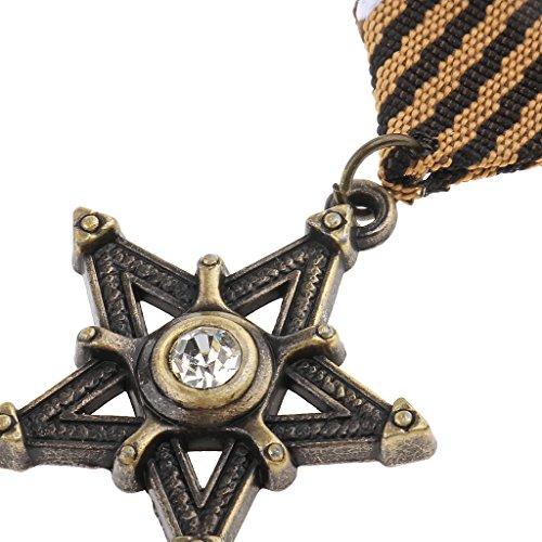 MagiDeal Vintage Herren Sterne Medaille Abzeichen Kleidung Mode Kostüm Marine Brosche