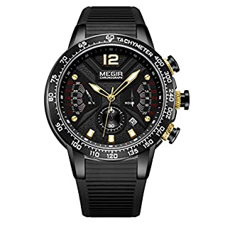 MEGIR-Herren-Uhren-Mnner-Militr-Silikon-Wasserdicht-Chronograph-Armbanduhr-Mann-Datum-Kalender-Sport-Dress-Quarz-Uhr