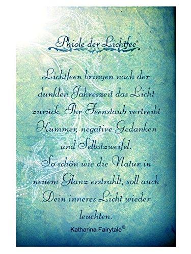 Katharina Fairytale Damen Schmuck Set Kette Phiole nachtleuchtender Feenstaub und Ohrringe der Lichtfee blau